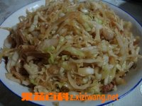 果蔬百科包菜炒肉丝